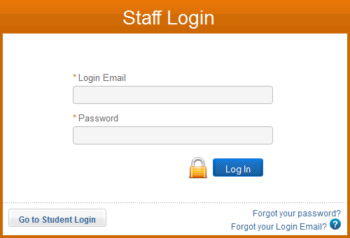Log in as a staff member